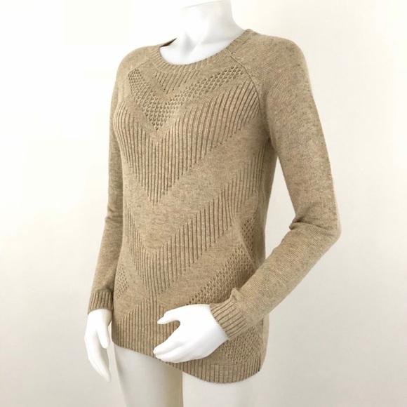 Market & Spruce Sweater SF Yuna Chevron Pointelle